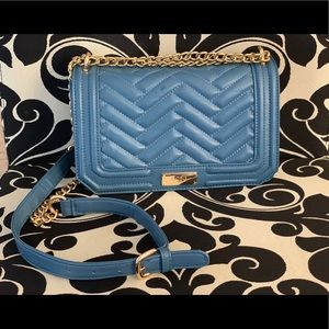 Blue and gold purse